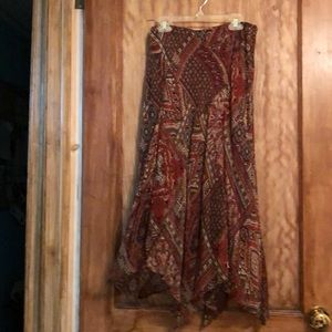 Kerchief paisley print skirt